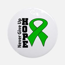 kidney cancer never give up hope Round Ornament