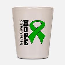 kidney cancer never give up hope Shot Glass