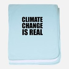 Climate Change is Real baby blanket