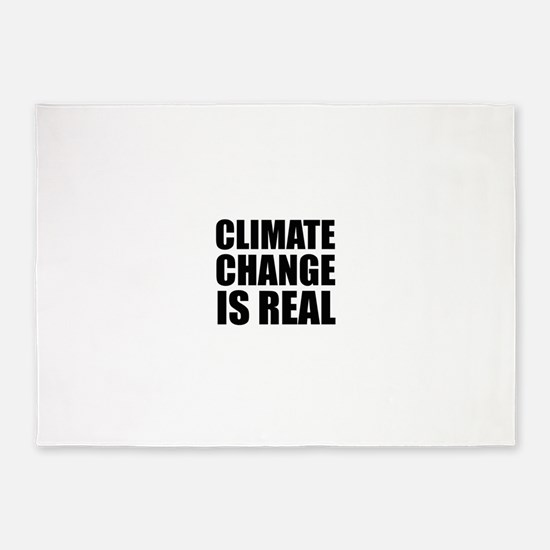 Climate Change is Real 5'x7'Area Rug