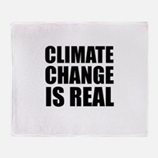 Climate Change is Real Throw Blanket