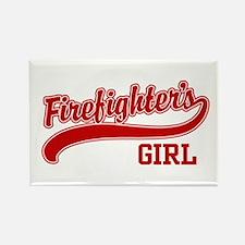 Firefighter's Girl Rectangle Magnet