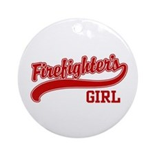 Firefighter's Girl Ornament (Round)