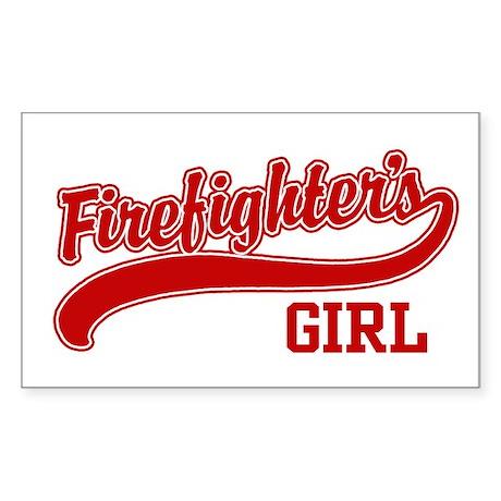 Firefighter's Girl Rectangle Sticker