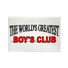 """The World's Greatest Boy's Club"" Rectangle Magnet"