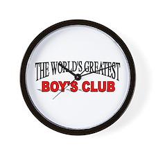 """The World's Greatest Boy's Club"" Wall Clock"