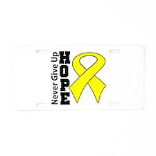 Ewing Sarcoma Cancer Hope Aluminum License Plate