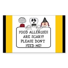 Halloween Food Allergies Rectangle Decal