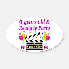 9TH BIRTHDAY Oval Car Magnet