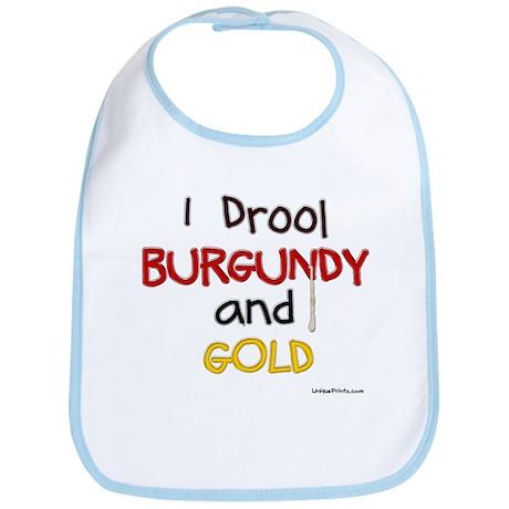 BURGUNDY and GOLD Bib