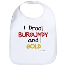 BURGUNDY and GOLD Bib