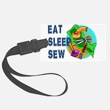 Eat Sleep Sew Luggage Tag