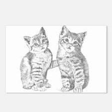 Two Tabby kittens Postcards (Package of 8)