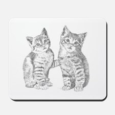 Two Tabby kittens Mousepad