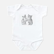 Two Tabby kittens Infant Bodysuit