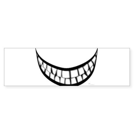 Huge Teeth Smile Sticker (Bumper)