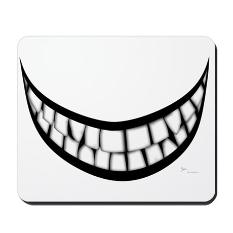 Huge Teeth Smile Mousepad