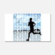 runner.png Car Magnet 20 x 12