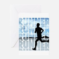 runner.png Greeting Cards