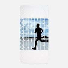 runner.png Beach Towel
