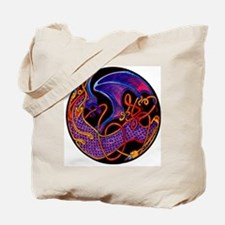 Jewel-tone Dragon Tote Bag