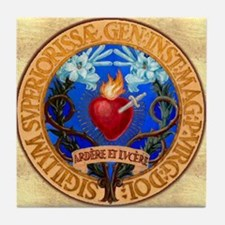 Immaculate Heart Emblem Tile Coaster