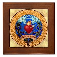 Immaculate Heart Emblem Framed Tile