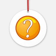 Question Mark Round Ornament