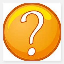 "Question Mark Square Car Magnet 3"" x 3"""