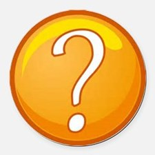 Question Mark Round Car Magnet