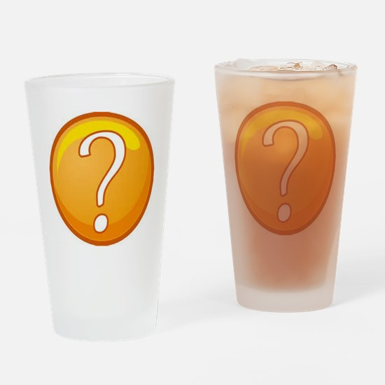 Question Mark Drinking Glass