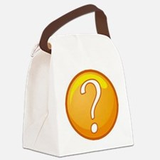 Question Mark Canvas Lunch Bag