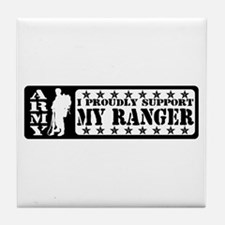 Proudly Support Rngr - ARMY Tile Coaster