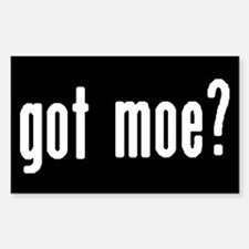 got moe? Rectangular Decal