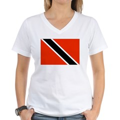 Trinidad and Tobago Women's V-Neck T-Shirt