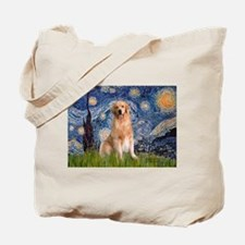 Starry Night / Golden Tote Bag