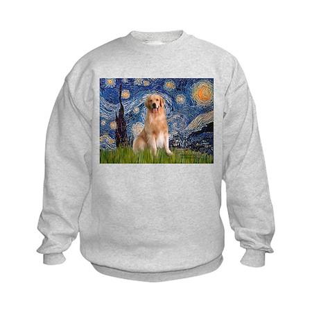Starry Night / Golden Kids Sweatshirt
