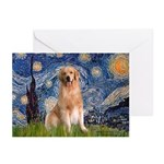 Starry Night / Golden Greeting Cards (Pk of 20)