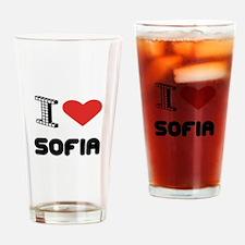 I Love Sofia City Drinking Glass