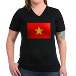 Viet Nam Women's V-Neck Dark T-Shirt