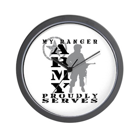 Ranger Proudly Serves - ARMY Wall Clock