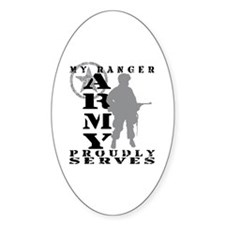Ranger Proudly Serves - ARMY Oval Decal