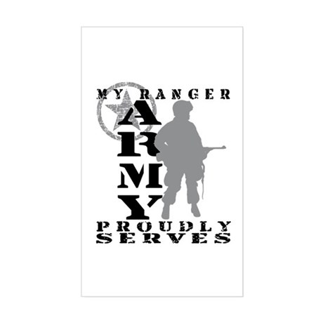 Ranger Proudly Serves - ARMY Rectangle Sticker