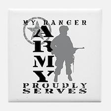 Ranger Proudly Serves - ARMY Tile Coaster