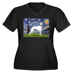 Starry Night / Whippet Women's Plus Size V-Neck Da
