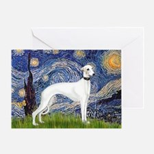 Starry Night / Whippet Greeting Card