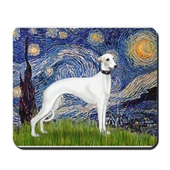 Starry Night / Whippet Mousepad