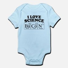 I Love Science Bacon Body Suit