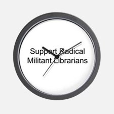 Cute Radical militant librarian Wall Clock