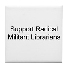 Cool Librarian freedom Tile Coaster